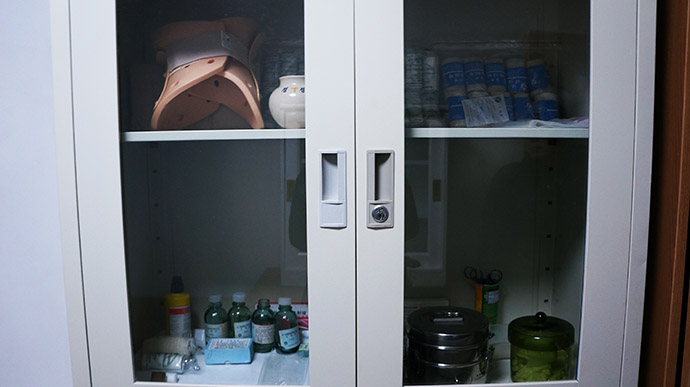 Medicine Cabinet at First Aid Station
