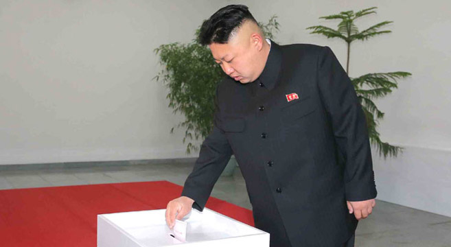 Kim Jong Un voting in 13th SPA election, March 9, 2014 | Photo: KCNA