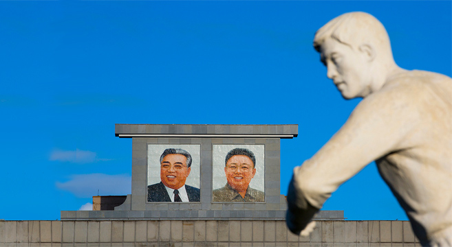 Portraits of the Kims are ubiquitous | Picture: NK News