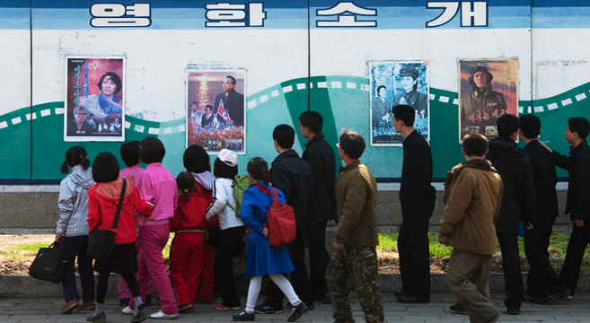 New movies on offer at a Pyongyang Theater | Picture: E. Lafforgue