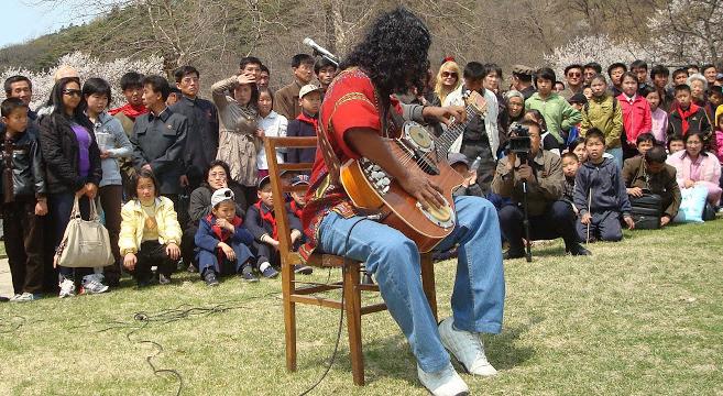 Prasad performs in Pyongyang | Picture: B. Prasad