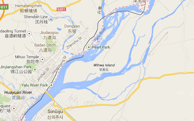 Google Maps: A map of Wiwha Island, the area the incident occurred.