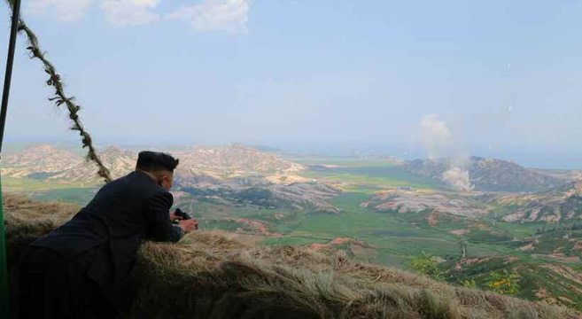 Kim Jong Un supervises rocket fire just miles from ROK territory | Picture: KCNA