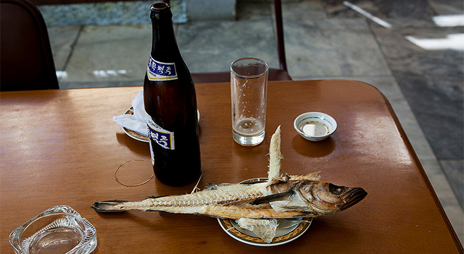 North Korean beer is often drunk with dried seafood | Picture: Eric Lafforgue