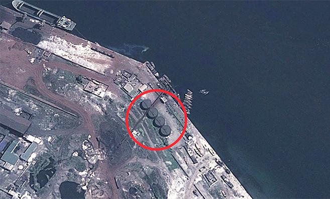 Possible oil storage tanks at Chongjin