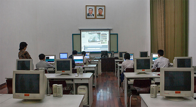 Computers at an educational facility in the DPRK | Picture: E. Lafforgue