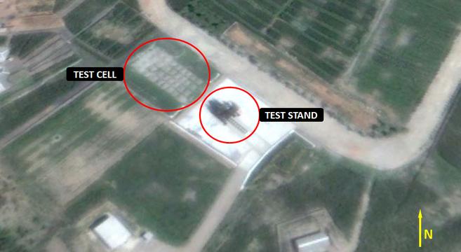 Sinpo test stand location