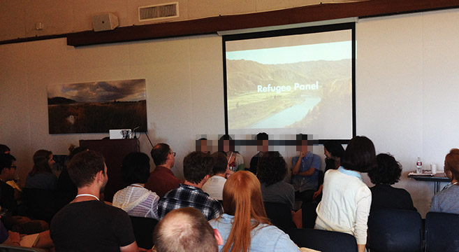 LiNK's Summit event featured a panel with prominent refugees | Picture: J. Hong / NK News