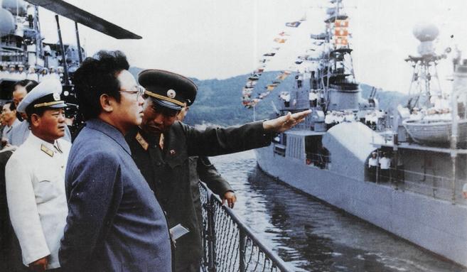 KJI viewing Najin-class KCNA