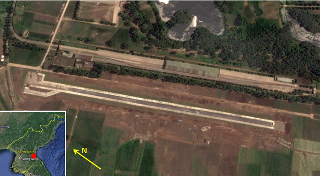 New small airfield near Kim compound in Wonsan | Google Earth