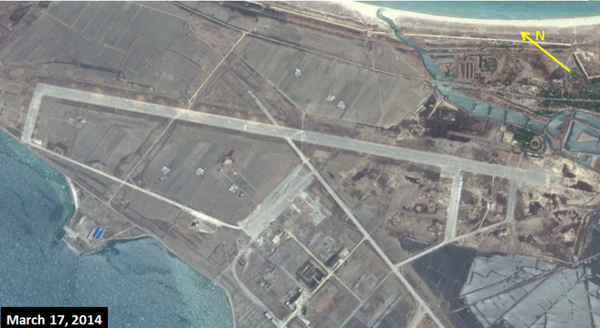 Wonsan air base on March 17, 2014 | Google Earth