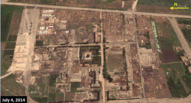 Western portion of Wonsan air base on July 4, 2014 | Google Earth