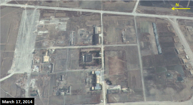 Western portion of Wonsan air base on March 17, 2014 | Google Earth