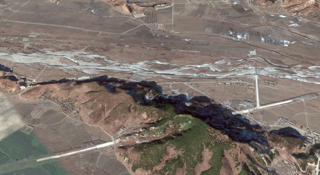 Kangda-ri airfield, December 25, 2014 | Google Earth