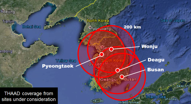 Potential THAAD coverage