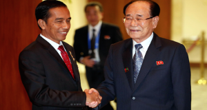 Kim Yong Nam meets heads of state in Indonesia