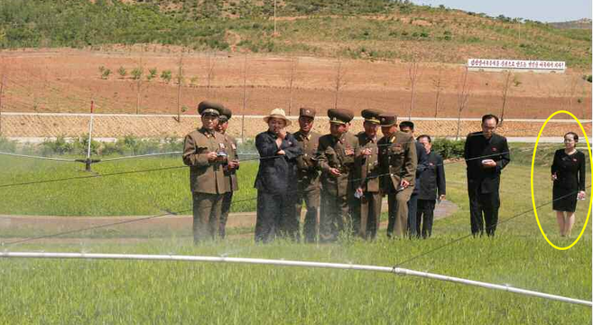 Kim Yo Jong at a general tree nursery with Kim Jong Un | Photo: KCNA