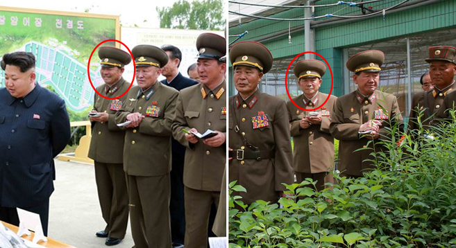 Pak Yong Sik as shown in state media May 15 (left) and May 29 (right) | Photos: KCNA