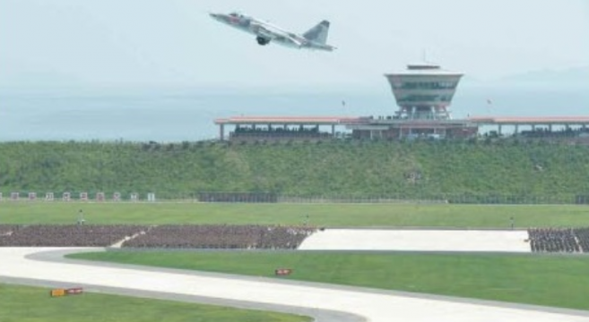 Su-25 taking off at Wonsan Aiport during aeronautics contest | Photo: Rodong Sinmun