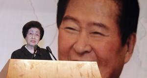 Kim Dae-jung's widow heads for North Korea
