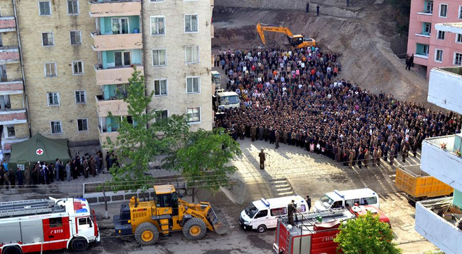 Major construction accident occurs in Pyongyang, state media reports