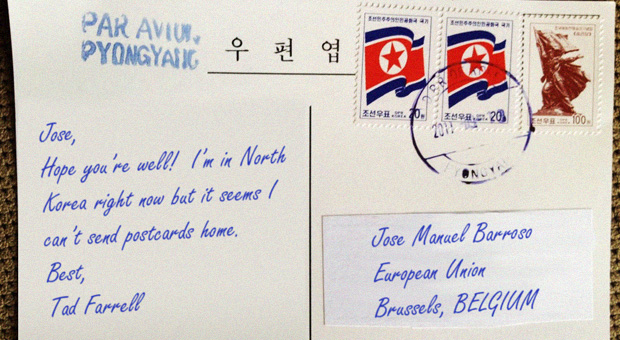 """Tourists in North Korea Unable To Send Postcards Home Due To """"Sanctions"""""""