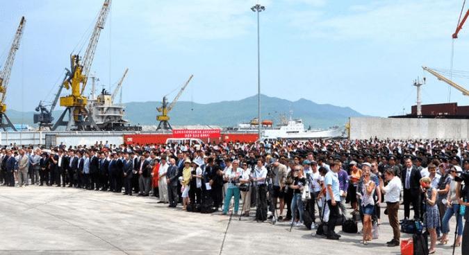 N. Korea opens Russia-backed wharf in Rajin