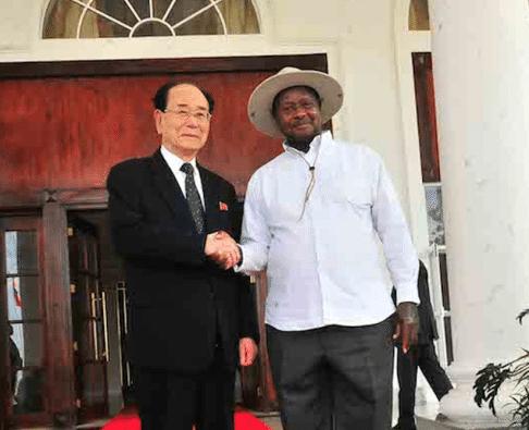 Kim Yong Nam in Uganda, new security deal may result