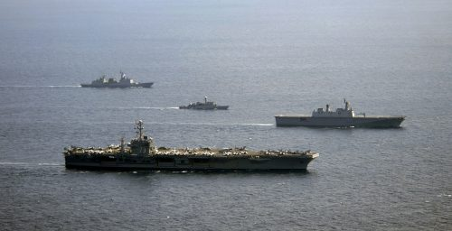 N. Korea conducts live fire drills near western maritime border