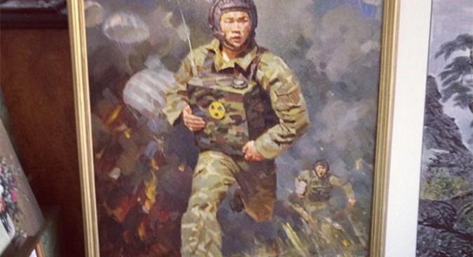 "N. Korea's ""nuclear backpacks"" appear on $850 oil paintings"