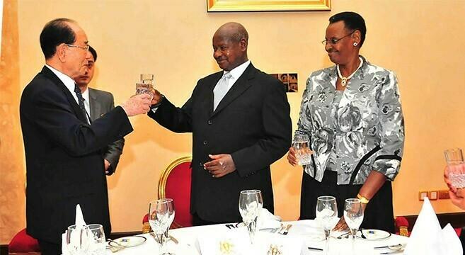 Ugandan President hosts state dinner for N. Korean delegation
