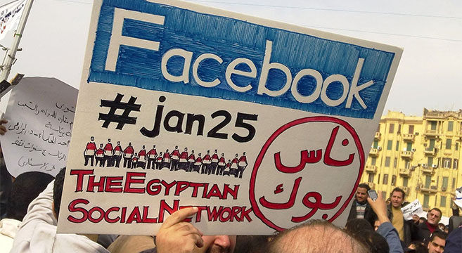 Social media played a major role in the Egyptian Revolution | Picture: Wikimedia Commons