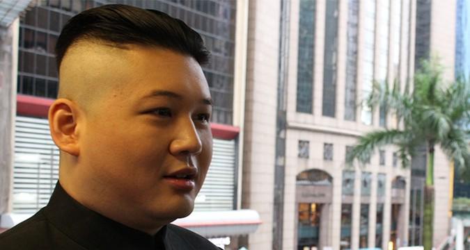 Kim Jong Un impersonator protests against North Korea