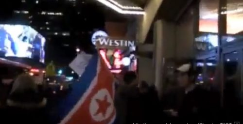North Korea Sympathizers Storm Times Square Movie Theater