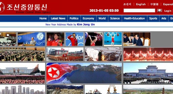 North Korea's KCNA News Agency Revamps Its Website