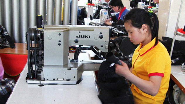 American brand clothing seen at North Korean garment factory