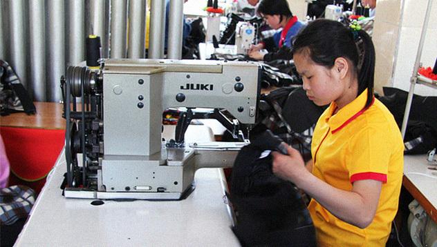 American brand clothing seen at North Korean garment factory