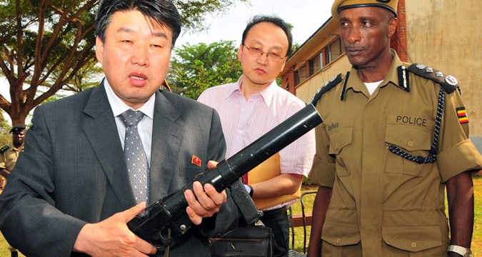 Exclusive: North Korean minister inspects Ugandan Police Force