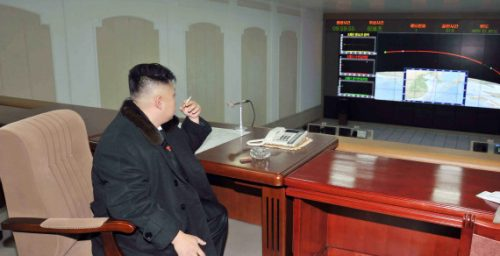 Kim Jong Un Enoys A Cigarette With Rocket Launch