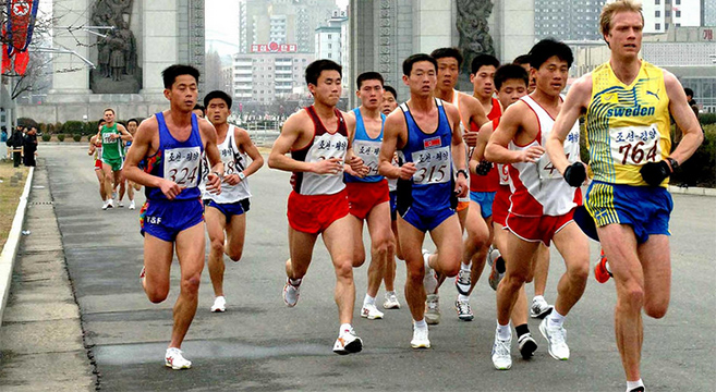 Locals triumph in the Pyongyang marathon