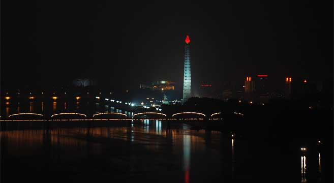 Image result for NIGHT PHOTOS IN NORTH KOREA