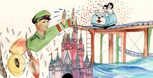 A North Korean goes to Disneyland