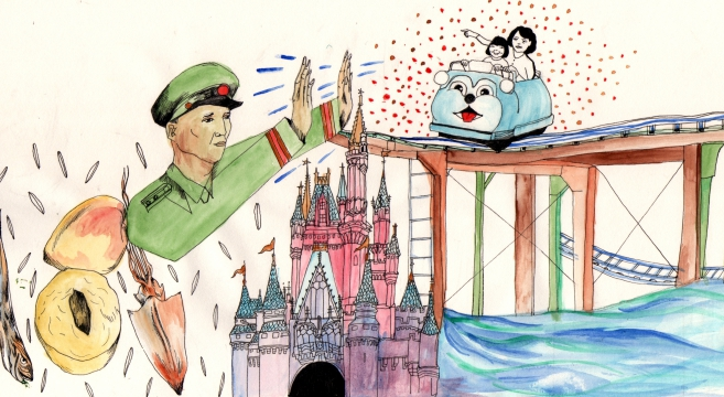 A North Korean goes to Disneyland