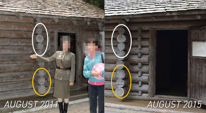 Wood shows same markings in both pre and post-fire reports | Pictures: NK News