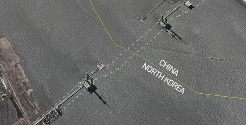 Revealed: Satellite images show progress on new Yalu bridge