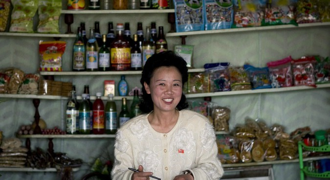 The bustling North Korean consumer goods market