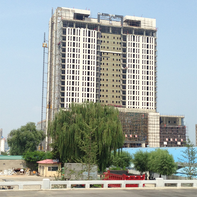 Closeup of the new structure, photographed August 2015 | Picture: NK News