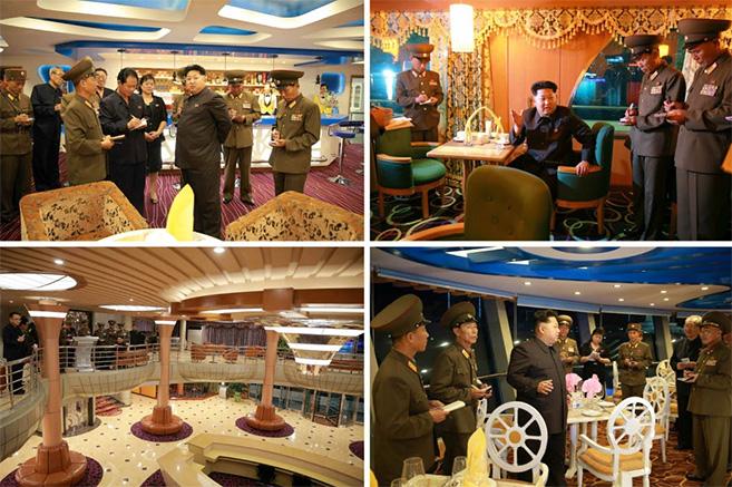 Kim Jong Un tours the vessel | Picture: Rodong Sinmun