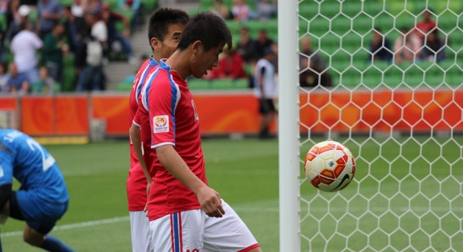 North and South Korea hold workers union soccer matches