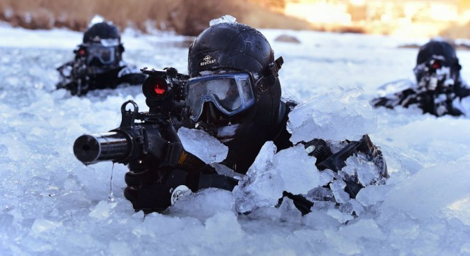 ROK Special Forces troops using the K-7 silenced submachine gun. ROK MND Flickr